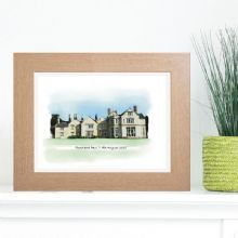 Wedding Venue Portrait - Unique Wedding Keepsake